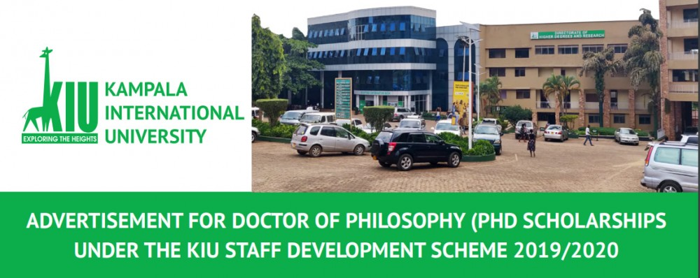 Advertisement For Doctor Of Philosophy (ph.d Scholarships Under The Kiu Staff Development Scheme 2019/2020)
