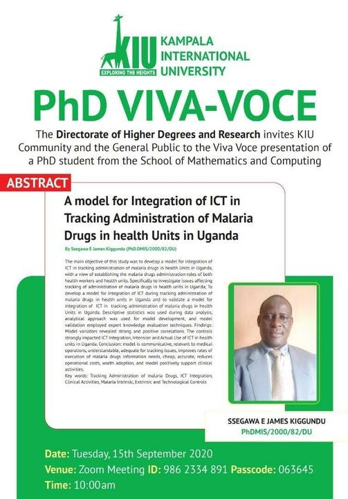 Another Somac Phd Candidate To Stage Virtual Public Defence Of Phd