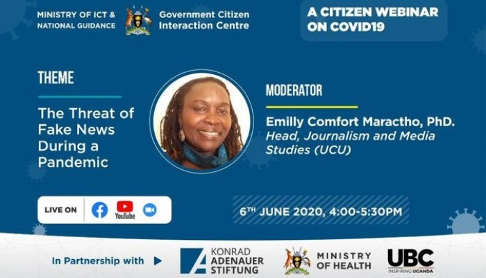 Fighting Coronavirus Together: Ministry of Health to hold Webinar on Threat of Fake News in Pandemic