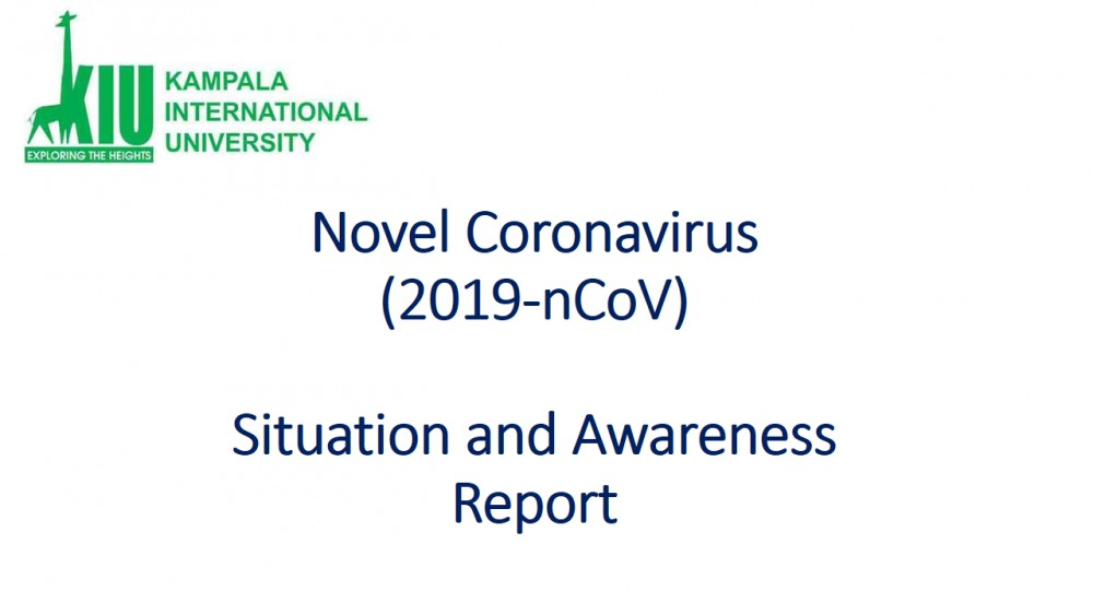Information On Corona Virus - Situation And Awareness Report