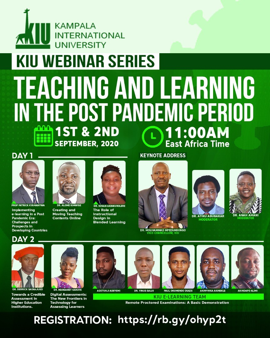 Just In: Kiu To Hold Webinar Series On Teaching And Learning In The Post Covid-19 Pandemic Period