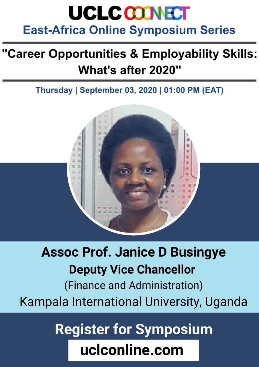 Kiu Deputy Vice Chancellor Finance And Administration, Prof Janice Busingye Set To Speak At The East Africa Online Symposium Series