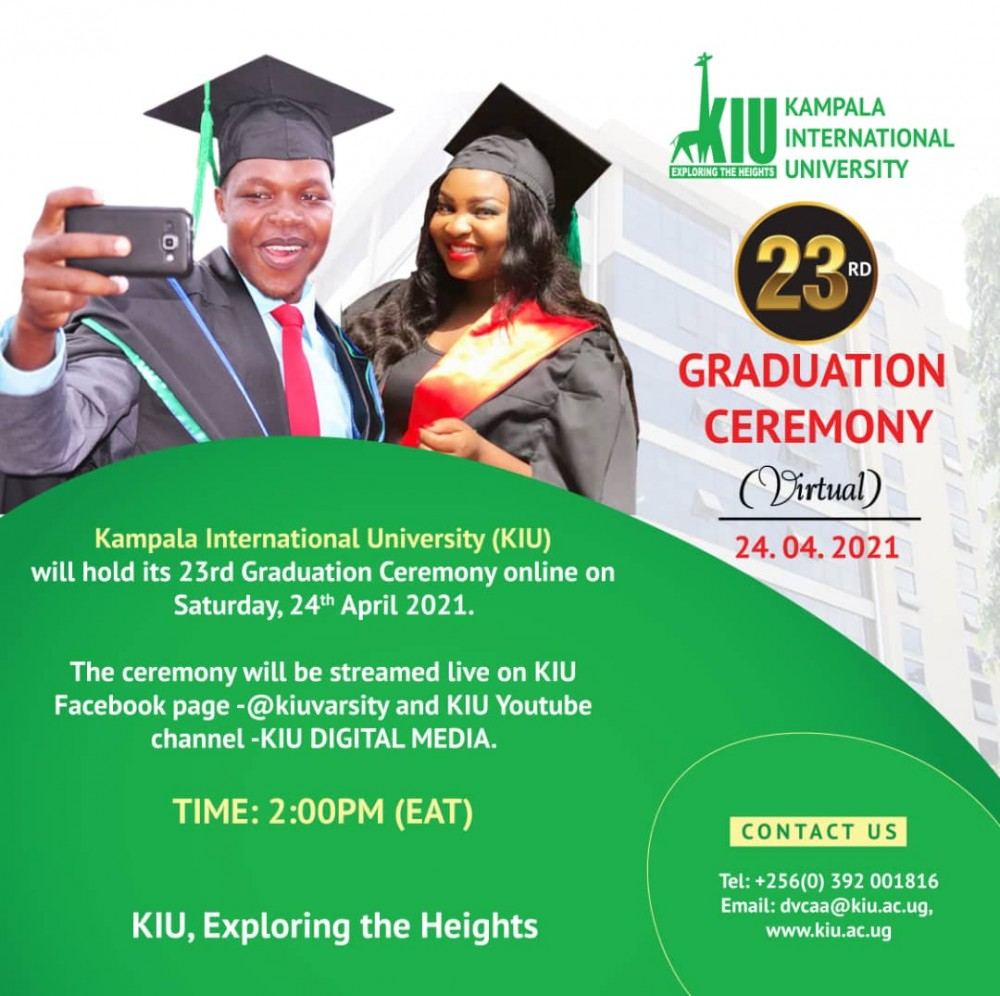 KIU to Virtually Hold 23rd Graduation Ceremony