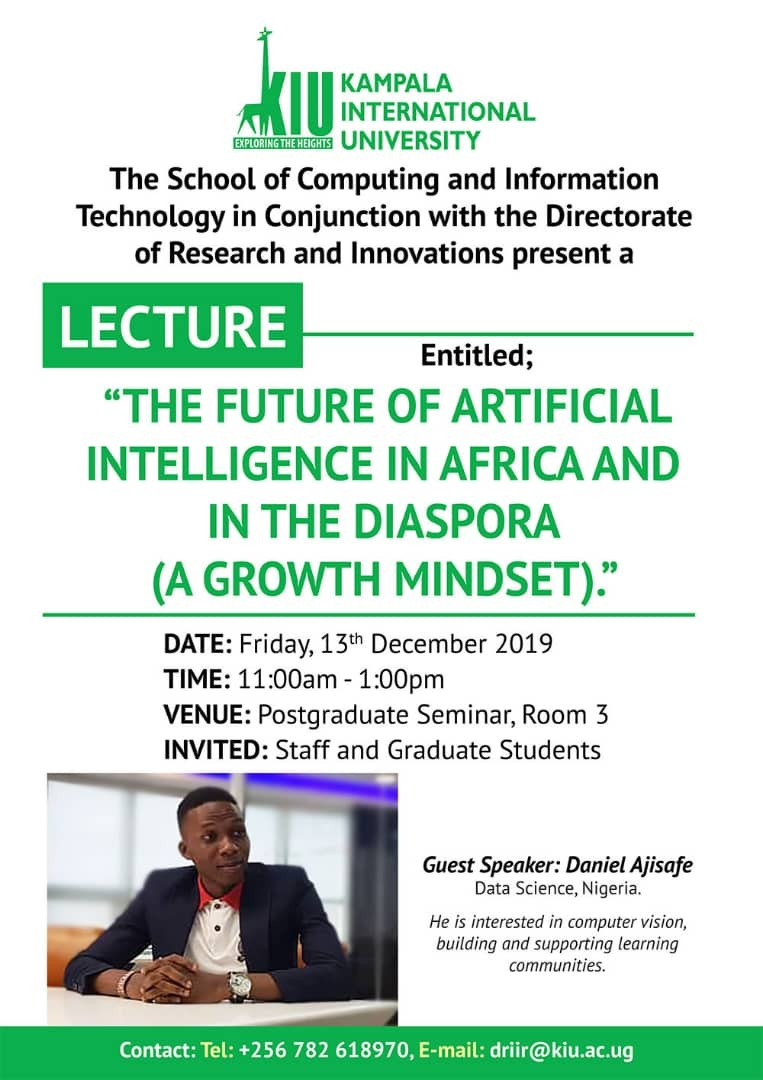Lecture - The Future Of Artificial Intelligence In Africa And In The Diaspora