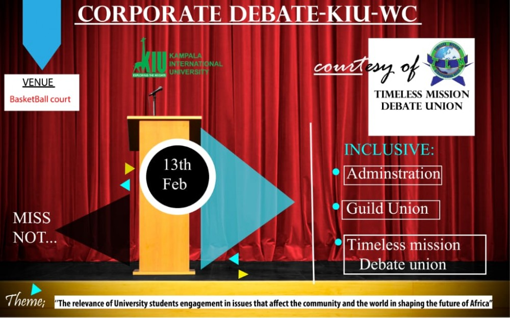 The First-ever Inter-faculty Debate At The Kiu Western Campus Kicks Off.